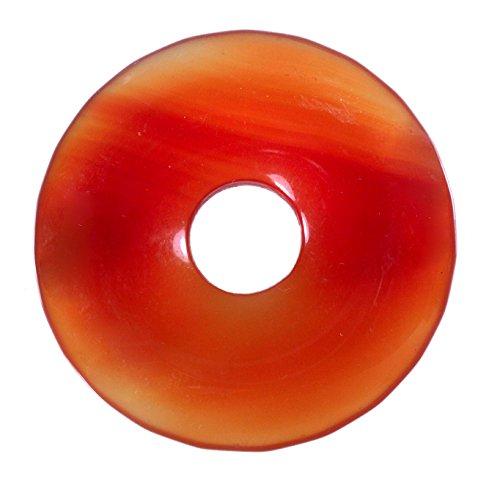 Lebensquelle Plus Karneol Carneol Edelstein Donut Ø 30 mm Anhänger