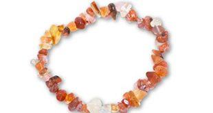 Taddart Minerals – Orange weisses Splitter Armband aus dem natuerlichen 310x165 - Taddart Minerals – Orange weißes Splitter Armband aus dem natürlichen Edelstein Karneol auf elastischem Nylonfaden aufgezogen - handgefertigt