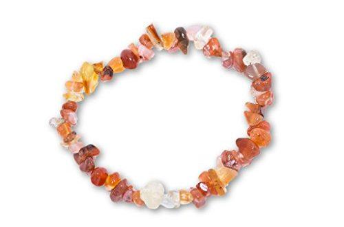 Taddart Minerals – Orange weisses Splitter Armband aus dem natuerlichen 500x330 - Taddart Minerals – Orange weißes Splitter Armband aus dem natürlichen Edelstein Karneol auf elastischem Nylonfaden aufgezogen - handgefertigt